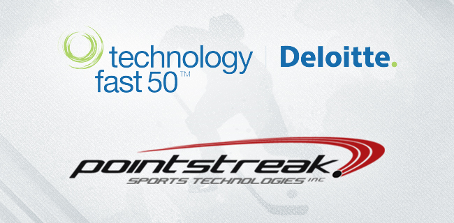 Pointstreak Sports Technologies Inc. Named One of Canada s Fastest Growing Technology Companies