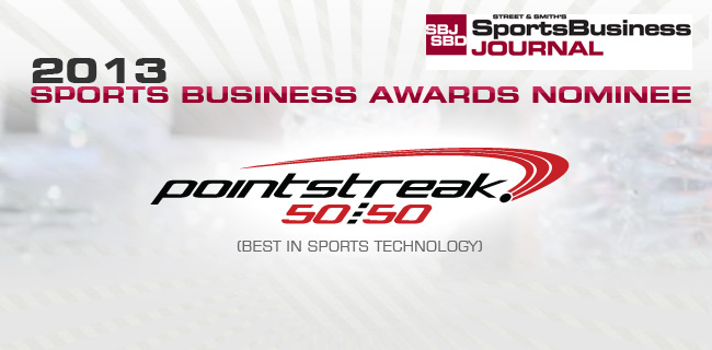 Pointstreak 5050 Nominated For BEST IN SPORTS TECHNOLOGY